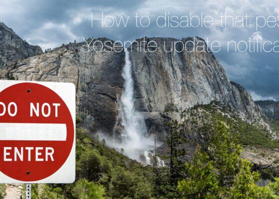 How To Disable Yosemite Update