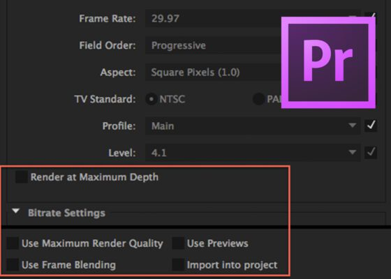 Adobe Premiere Pro Render Options Explained