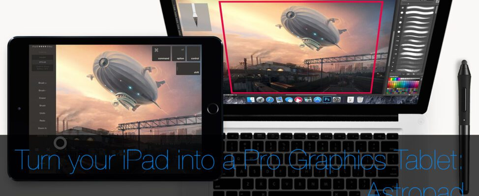 How to use your ipad as a graphics tablet