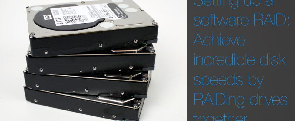 Setting up a software RAID