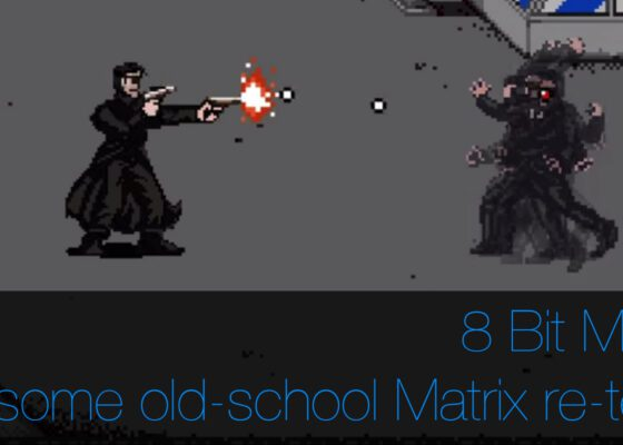 8 bit matrix animation