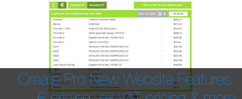 Create Pro € pricing