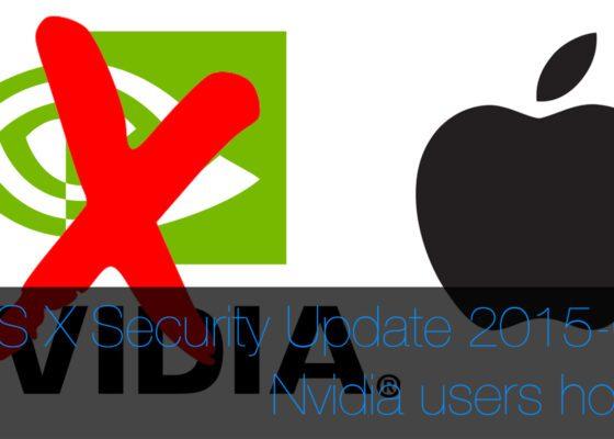Security Update 2015-002 nvidia gpu disabled