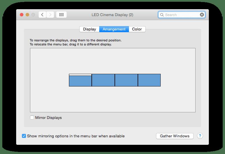 4 Displays in OS X