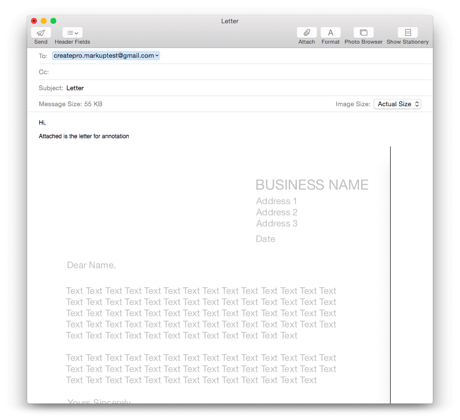 Annotate emails on a mac