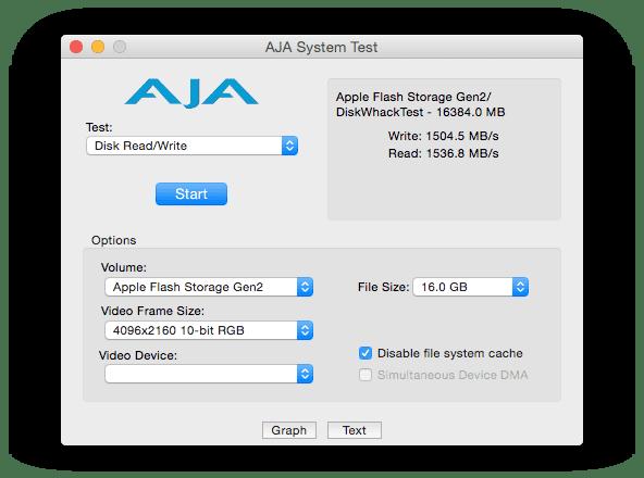 2015 Apple Flash Storage Speed Test