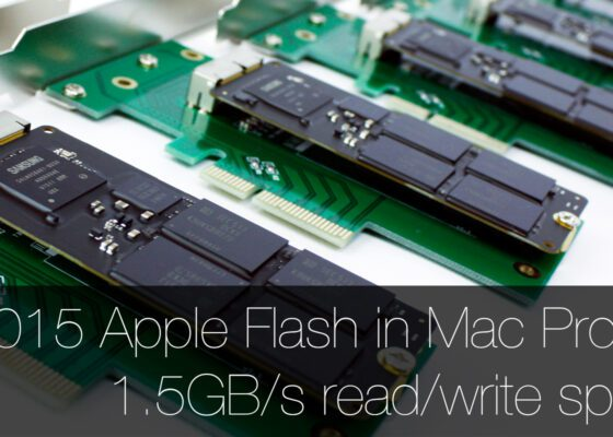 2015 Apple Flash Storage in Mac Pro 5,1 1500MBs read and write speed