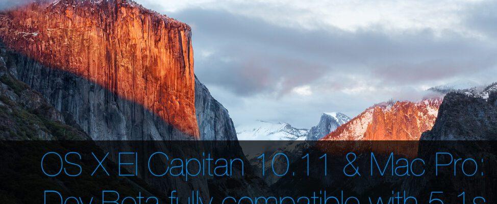 OS X El Capitan on Mac Pro 5,1