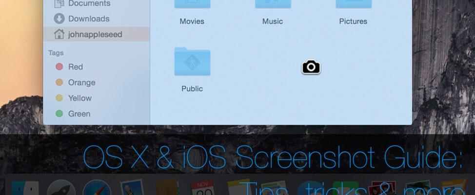 Taking screenshots on OS X