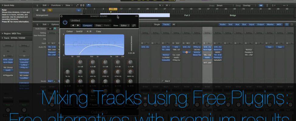 Mixing tracks using free plugins