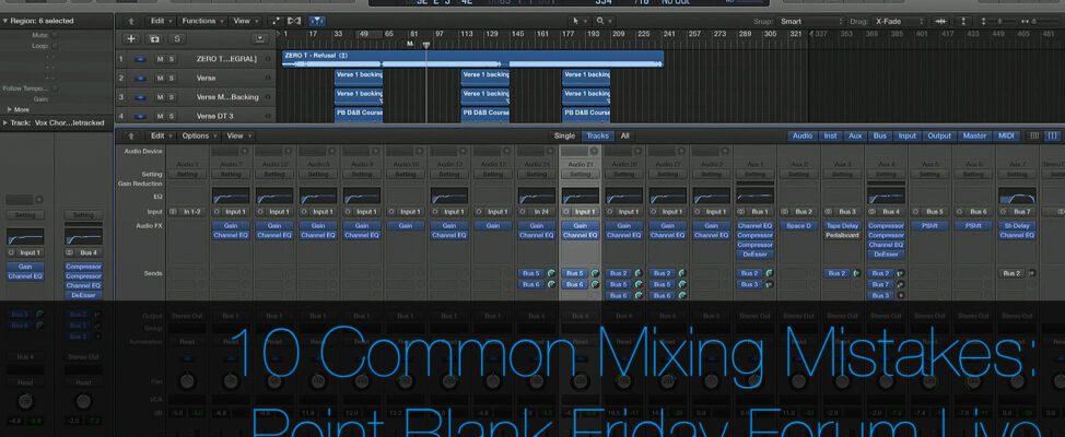 10 Common Audio Mixing Mistakes