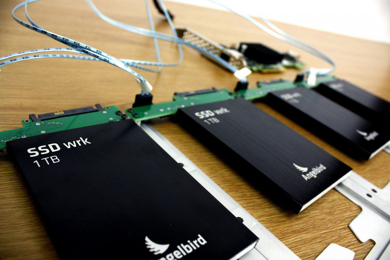 4 Angelbird 1TB SSDs with an Areca RAID card