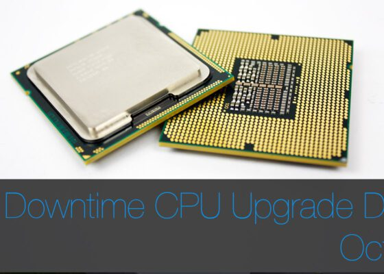 Mac Pro CPU Upgrade Zero Downtime October Dates