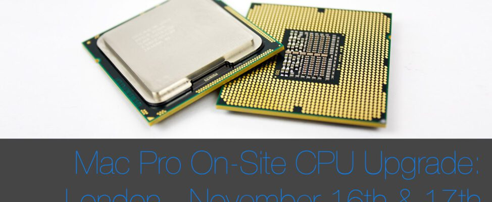Mac Pro CPU Upgrade Zero Downtime November Dates