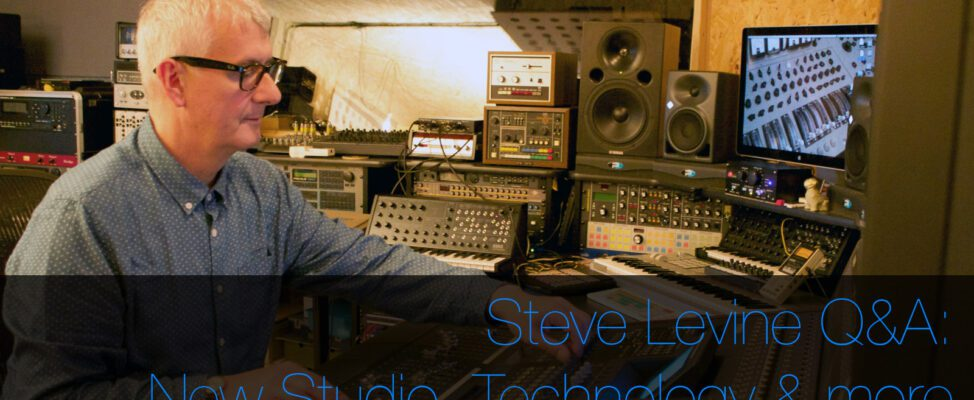 Steve Levine Interview talking about his new studio, technology in music, culture club and mac pro