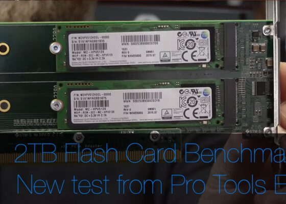 2TB flash storage RAID for OS X benchmarked in Pro Tools