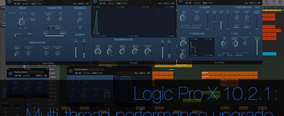 Logic Pro X update improves multi core performance on Mac Pro