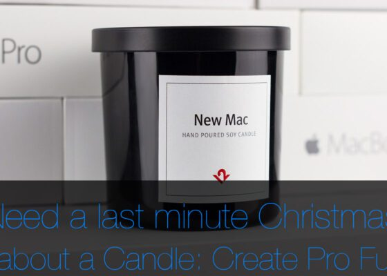'New Mac' Candle