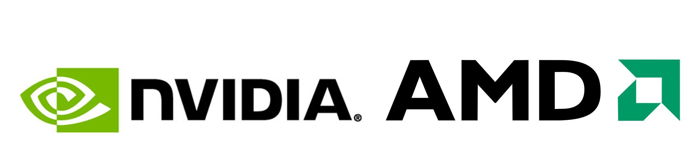 Nvidia & AMD Logos