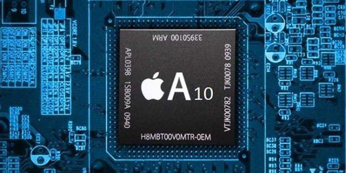 An Apple A10 Fusion chip