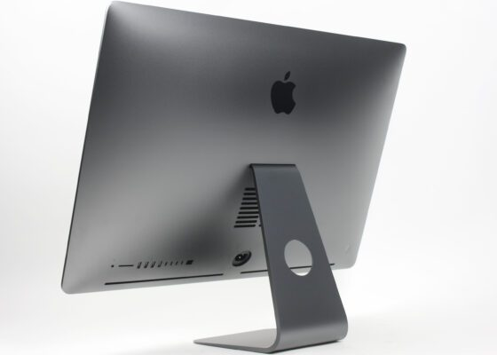 The back of the Apple iMac Pro